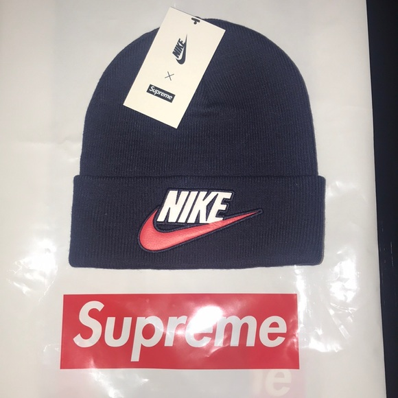 Supreme x Nike Beanie (navy blue) c1b4ed3ce88e